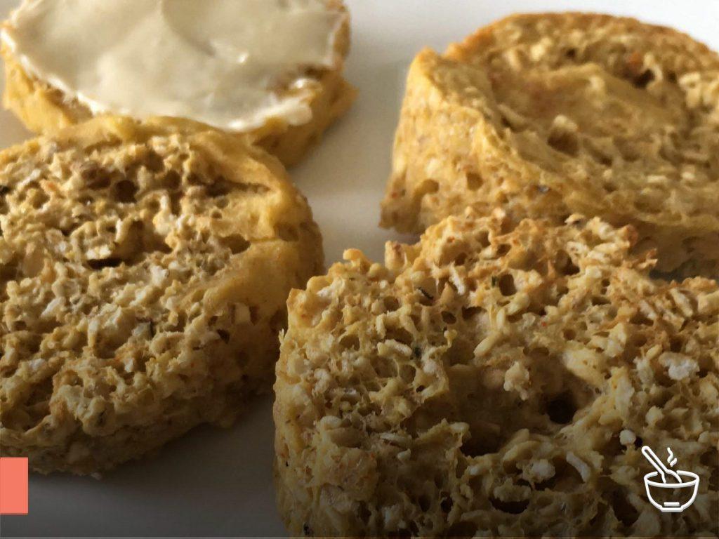 Pãozinho de aveia no microondas